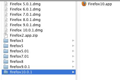 firefoxの各バージョン