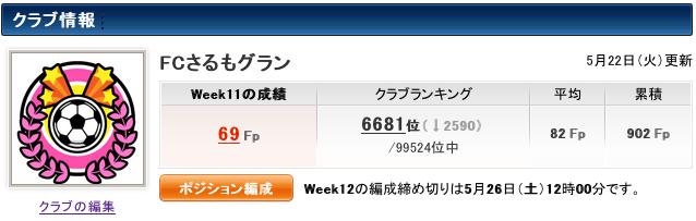 【J特】2012 Week11 結果 #fansaka #ファンサカ
