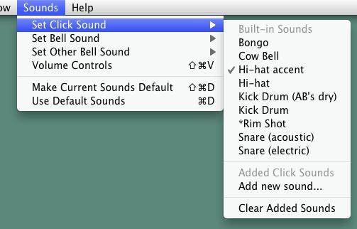 クリックの音を変更できます。