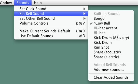 ベルの音を変更できます。