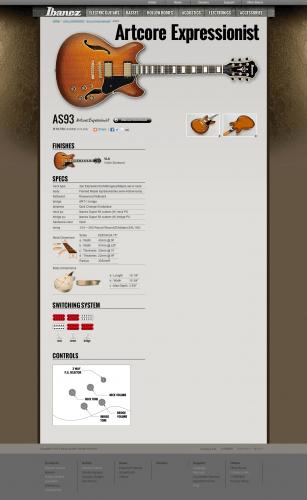 AS93 Ibanez guitars