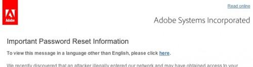 Important Password Reset Information