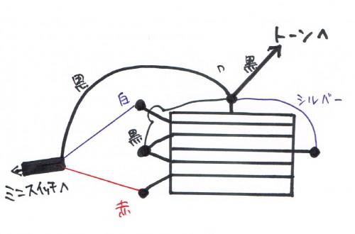 ピックアップセレクタ配線メモ