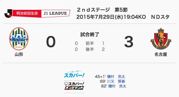 2015/07/29 J1-2nd-05節 アウェイ山形戦
