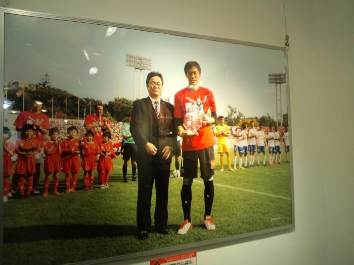 楢﨑600試合記念展示