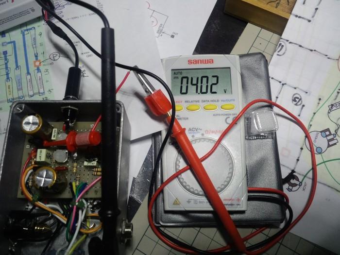 ドレイン電圧をトリマーで調整