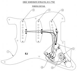 エリック・ジョンソンのストラトの配線