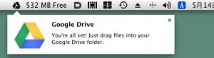 メニューにDriveが現れます