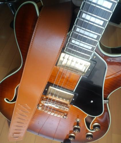 KIKUTANI GS-2000/BR 合皮ギターストラップ