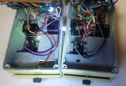 BOSS SD-1新旧比較(右が新)