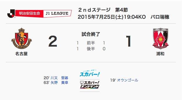 2015/07/25  J1-2nd-04節 ホーム戦レッズ戦