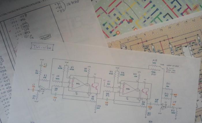 回路図、実体配線図