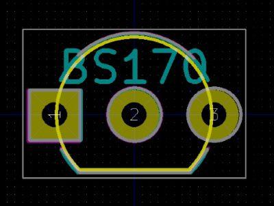 BS170のフットプリント